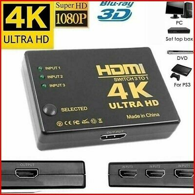5 in 1 1080p HDMI Splitter Switch Adapter Switcher 4K Ultra HD HDCP 3D HDR Kit
