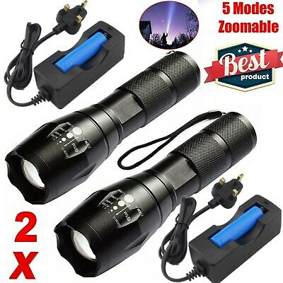 Powerful LED Torch 900000LM LED Flashlight Tactical Military Lamp Rechargeable
