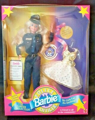 **NIB BARBIE DOLL 1993 POLICE OFFICER THE CAREER COLLECTION 10688