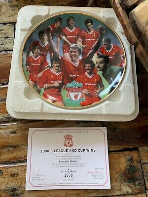 DANBURY MINT LIVERPOOL FC COLLECTOR PLATE CHAMPIONS OF EUROPE 1984