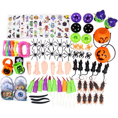 120 PCS Halloween Party Bag Fillers Loot Trick Or Treat Favour Pinata Kids Toys~
