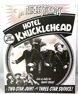 Three Stooges Knuckleheads Garage Funny Tin Metal Sign Motorcycle NEW Made USA