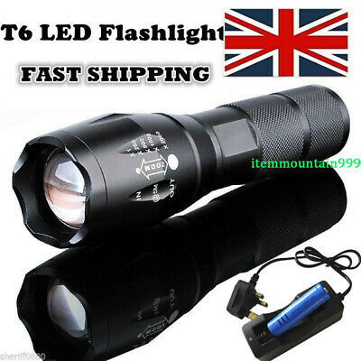 Powerfuled 900000LM LED Flashlight Tactical T6 18650/AAA Torch Lamp Rechargeable