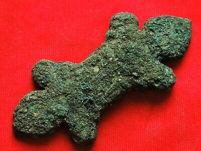 Ancient bronze Celtic artifact in animal style