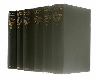 The Second World War Set of 6 Volumes (4 first editions) by Churchill, Winston S