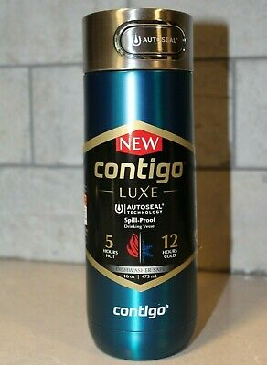 Contigo Luxe AUTOSEAL Spill Proof Coffee Travel Mug 16oz Biscay Bay Dishwasher