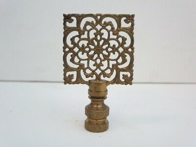 Antique Brass Asian Square Lamp Shade Finial