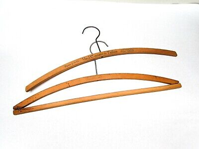 Antique Wood Clothes Hanger Advertising Ideal Cleaner Tailor HW Sarah California