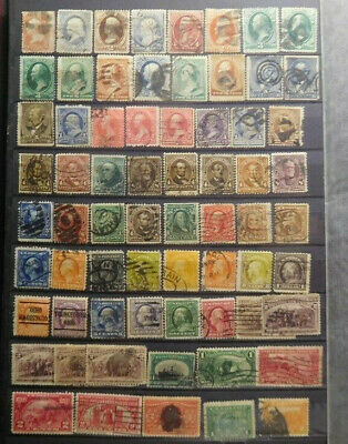 U.S.A. Early & Old Stamps Lot, Postage, Revenue, Back Of The Book, #1, Used