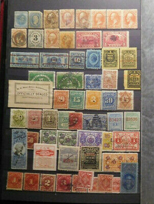 U.S.A. Early & Old Stamps Lot, Postage, Revenue, Back Of The Book, #2, MNG, Used
