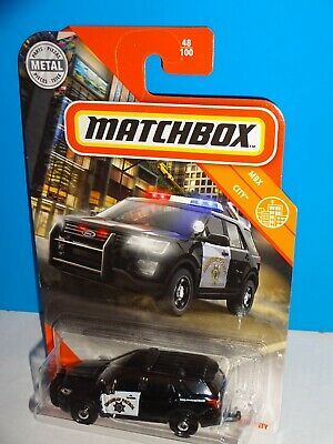 Matchbox 2020 2016 Ford Interceptor Utility Police 48 100 Highway Patrol Suv New Cars Trucks Vans Contemporary Manufacture