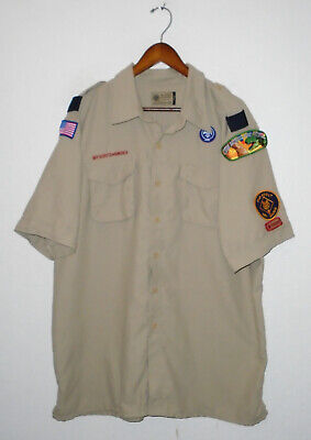 BOY SCOUTS Of America Uniform Shirt VENTED Polyester Scout Adult Mens X-LARGE XL