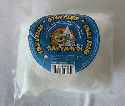 NEW Bag of Teddy Mountain Polyester Fibre Stuffing 40g 1.44oz #9086 SMALL BEAR