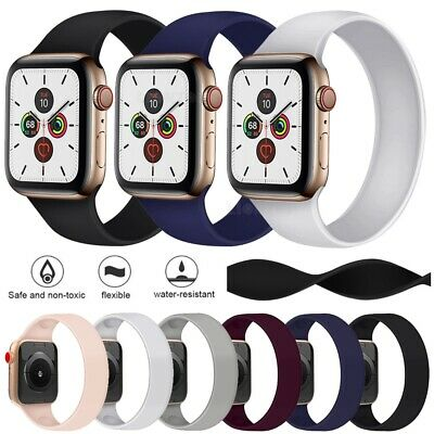 Solo Silicone Band Strap For Apple Watch SE iWatch Series 6 5 4 3/38/42/40/44mm