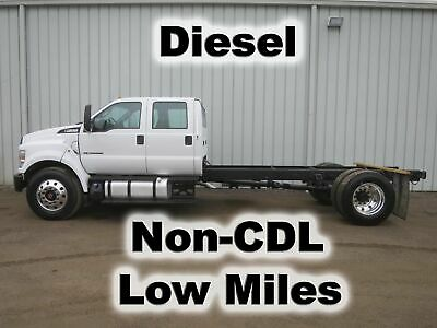F650 Diesel 4 Door Crew Cab Chassis Straight Frame Non-Cdl Truck 72-K Low Miles