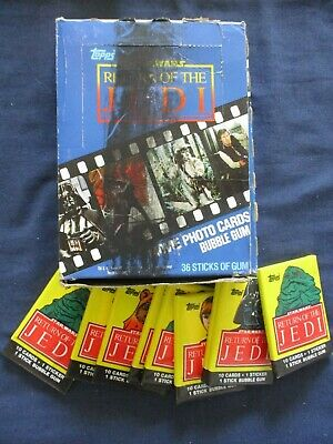 Box 36 Wax Packs Star Wars Return of the Jedi Gum Cards 1983 Topps Trading Cards
