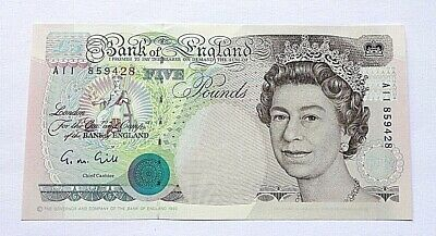 Bank of England £5 Note Prefix A11 859428 G.M.Gill aUnc