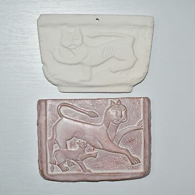 Lot Terracotta Reproductions Snow Leopard Reliefs Byzantine Empire Xi-Xii C. Ad