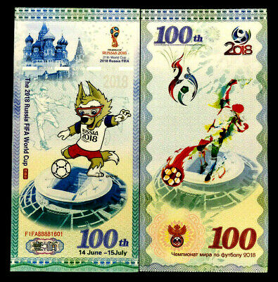 The 2018 Russia FIFA World Cup Banknote World Paper Money UNC Bill Note