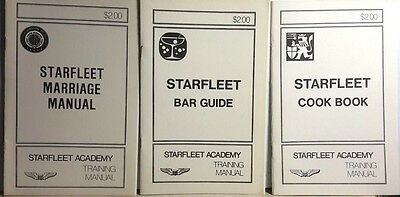 Vintage Star Trek Starfleet Academy Training Manual Booklet Set of 10- UNREAD