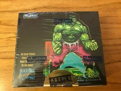 1992 SKYBOX MARVEL MASTERPIECES FACTORY SEALED UNOPENED BOX 36 PACKS Tough Find