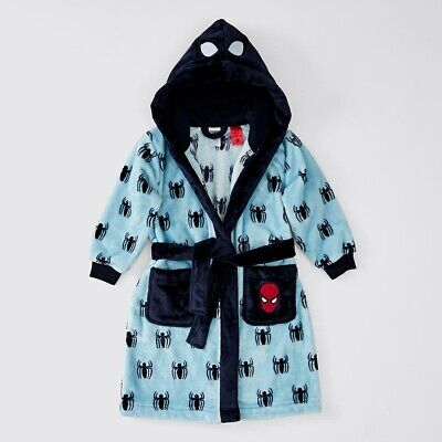 Marvel Boys HS2055 Spiderman Coral Fleece Dressing Gown Gown