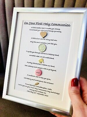 A4 PERSONALISED PRINT GIFT FOR BOY'S FIRST HOLY COMMUNION DAY CONFIRMATION DAY