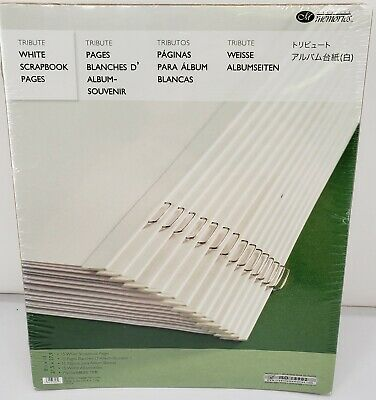 New Creative Memories 8 1//2  x 11 ~ WHITE PAGES ~ Sealed Old Style 15 Pages