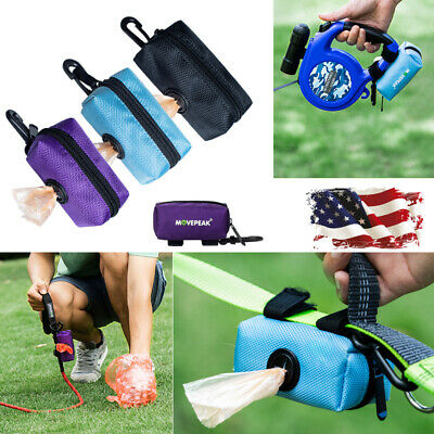Pet Cat Dispenser Waste Dog Puppy Pick-Up Bag Travel Poop Bag Holder Hook-Black