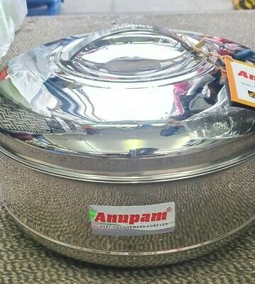 Stainless Steel Hot Pot Insulated Food Warmer Hammered Roti Rice Tortilla