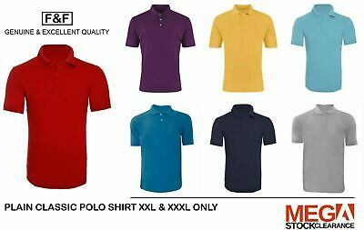 Mens Plain Classic Polo Shirt Casual Workwear Size XXL - XXXL Unisex Polo shirt