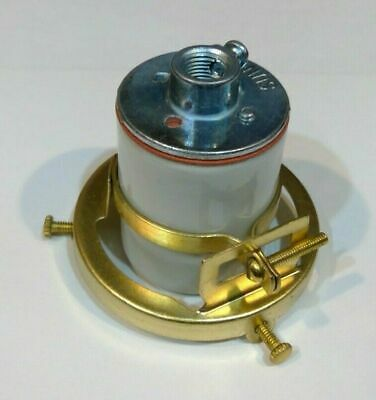"""SOLID BRASS SOCKET WITH 2 1//4/"""" CLAMP FITTER 2 1//2/"""" TALL"""