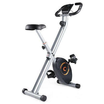 BRAND NEW LUXE Foldable Exercise Bike WHITE Fitness Weight Loss Machine Home Gym