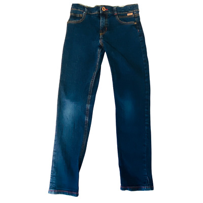 Ted Baker Jeans Boys Age 10 Skinny Vinnies Indigo Dark Blue Red Stitch