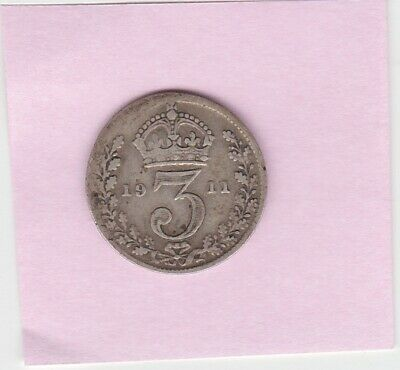 SOLID SILVER Threepence 1916 Coin II World War I Flanders Germany Belgium Medal