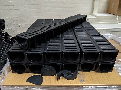 DRAINAGE CHANNEL DRIVEWAY /& PATIOS 13mtr Plastic Grating Inc FREE ACCESSORIES