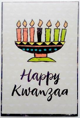 """4 /""""Give Thanks for Principles that Sustain Us/"""" KWANZAA CARDS 4x6 HALLMARK"""