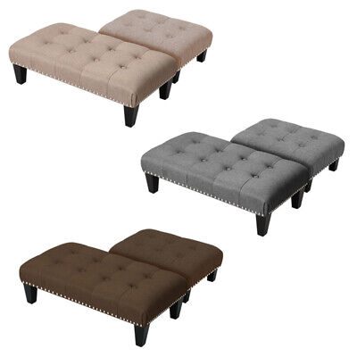 Foot Rest Pouffe Stool Padded Seat Ottoman Footstool Chair Sofa Side Bench Stool