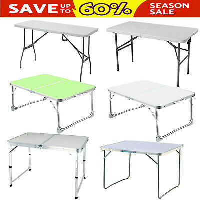 NEW Heavy Duty Folding Catering Trestle Camping BBQ Party Garden Portable Table