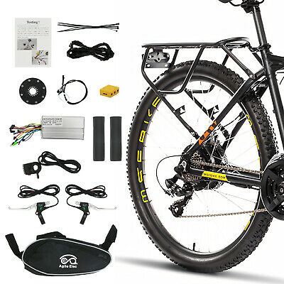 """26"""" 48V Front/Rear Wheel Electric Bicycle Motor Conversion Kit 1000W eBike Hub"""