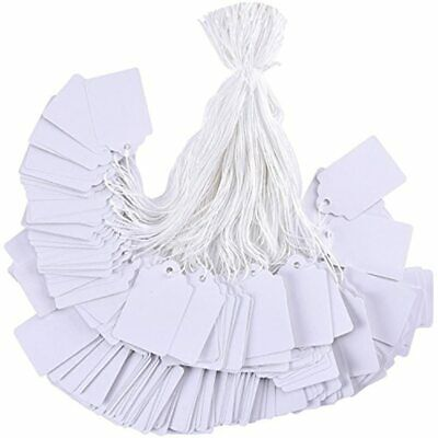 1000 Pieces White Tags With String Marking Strung Writable Display Label For X
