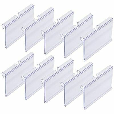 50 PCS Clear Plastic Label Holders For Wire Shelf Retail Price Merchandise Sign