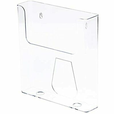 """Plymor Clear Acrylic Paper/Catalog Literature Holder (Wall Mount), Fits 8.5"""" X"""