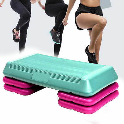 """43/"""" Fitness Exercise Training Aerobic Step Board Home Workout Stepper Footboard"""