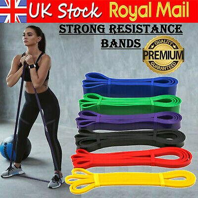 Strong Resistance Bands Loop Heavy Duty Exercise Sport Fitness Gym Yoga Latex UK