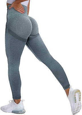 SZKANI Women High Waisted Yoga Pants Textured Ruched Butt Lifting Leggings Anti Cellulite Workout Tights