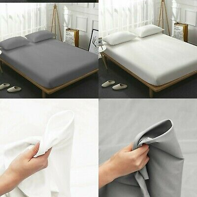 600TC 30CM FITTED SHEET 100/% EGYPTIAN COTTON HOTEL QUALITY DOUBLE SUPERKING SIZE