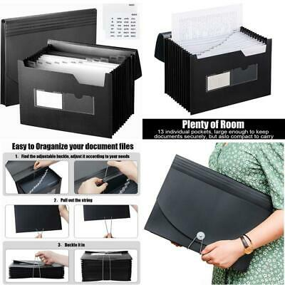 Sturdy Expanding File Folder With Sticky Labels 13 Pockets Stand-Up Accordion