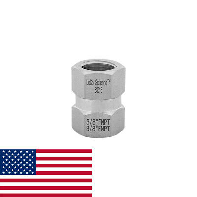 """Details about  /1//2/"""" FNPT x 1//4/"""" MNPT Straight Hose Adapter SS316 LoCo Science!"""