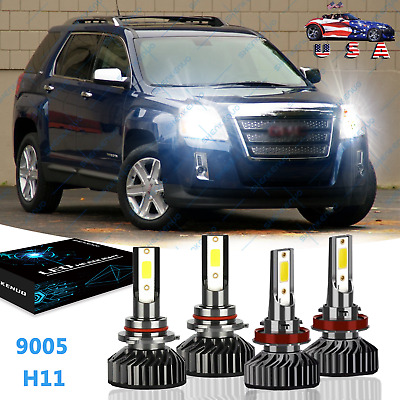 For GMC Terrain 2010-2015 Combo LED Headlight High Low Beam Light 4*Bulb 6000K